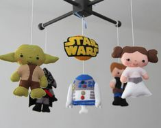Baby Crib Mobile Star Wars Mobile Nursery Star by LesPetitesshop