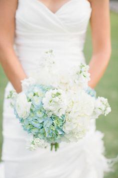 Blue and White Beach Inspired Wedding