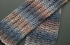 Tunisian Crochet Ravelry: Tunisian Resolution Scarf pattern by Cathy Johnson. Simple, but with the potential to look really elegant given the right yarn. Crochet Afghans, Crochet Men, Tunisian Crochet Patterns, Love Crochet, Crochet Scarves, Crochet Shawl, Ravelry Crochet, Crochet Accessories, Crochet For Beginners