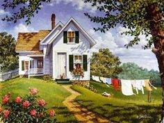 Summer Breeze – can't wait and its not even winter! Summer Breeze – can't wait and its not even winter! Country Art, Country Life, Life Paint, Country Scenes, Naive Art, Summer Breeze, Farm Life, Beautiful Paintings, Belle Photo