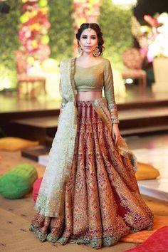 Top 20 latest bridal lehenga designs of 2015 Asian Bridal, Indian Bridal Wear, Pakistani Bridal, Bridal Lehenga, Bride Indian, Pakistani Outfits, Indian Outfits, Desi Clothes, Indian Clothes