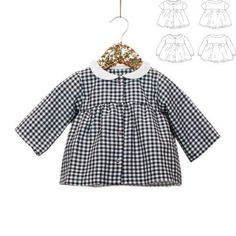 2bb6c5bbee530 Ikatee Baby Stockholm Duo Blouse   Dress Downloadable PDF Pattern Pdf  Sewing Patterns