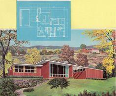 Mid century home brochures