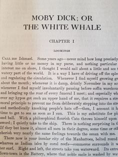 White Whale, American Literature, Piece Of Me, Call Me, Book Quotes, All About Time, How To Get, Thoughts, Feelings