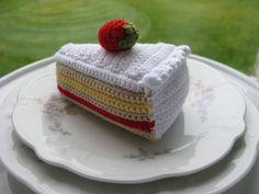 Cias Små Ting: Virkad kladdkaka och tårtbit