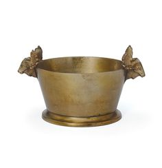 The Soaring Ice Bucket is a stunning statement piece for your bar or kitchen. The antiqued finish and the sculptural accents on the side make it such a distinguished piece.