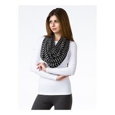 Ladies Organic Striped Infinity Scarf - Made in USA