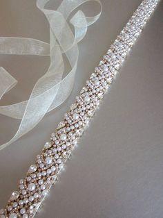 Bridal belt sash Bridal Swarovski crystal belt by SabinaKWdesign