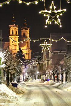 Christmas in Ottobeuren, Bavaria, Germany