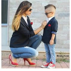 Mommy And Son Matching Outfits. Mom And Son Outfits, Baby Boy Outfits, Cute Outfits, Mother Son Matching Outfits, Matching Clothes, Fashion Kids, Baby Boy Fashion, Mommy Fashion, Petite Fashion