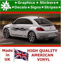 """10"""" High Car Side Stripes Graphic Decal Vinyl Stickers Van Auto Rally Race F3_26"""
