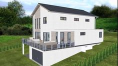 House Extension Design, Hillside House, A Frame House, Box Houses, House On A Hill, House Extensions, New Home Designs, House Plans, Home And Family