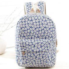 140bc3d86aed Женщины брезент рюкзаки цветочный печать школа сумки для подростков девочки  свободного покроя рюкзак лэптоп Bagpack Mochila