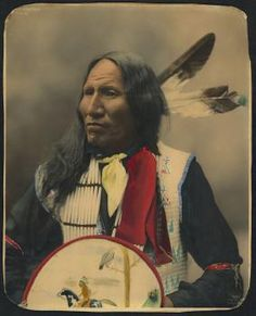 Chief Strikes With Nose, Oglala Lakota, 1899. Photo by Heyn Photo.   Read more at https://indiancountrytodaymedianetwork.com/gallery/photo/20-remarkable-hand-colored-portraits-american-indians-15749820 Remarkable Hand-Colored Portraits of American Indians - ICTMN.com
