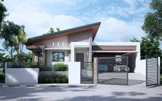 New Minimalist House Design Exterior Philippines Ideas Modern Bungalow House Design, Modern Small House Design, Small House Exteriors, Bungalow House Plans, Minimalist House Design, Bungalow Exterior, Dream House Exterior, Flat Roof House, Facade House