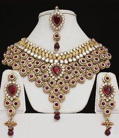 Bridal Kundan Jewelry Set - Click Image to Close