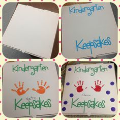 Hand out to Kindergarten Parents at Open House.  Keepsake Box