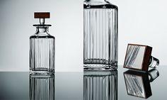 "David Linley ""Trafalgar Crystal Decanter"" Crystal Decanter, Home Accessories, Silver Plate, Glass Vase, Crystals, Luxury Gifts, David, Beautiful, Silverware Tray"