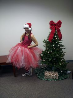 My christmas 5 k running outfit. Next time I'll keep a shorter tutu.