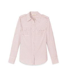 BRIGITTE BLOUSE - BLUSH CHAMPAGNE DOT MINI B