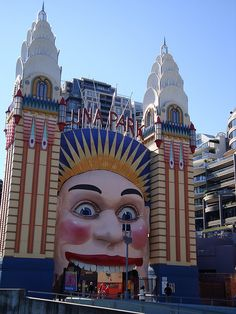 Luna Park, Sydney,Australia so much fun! Like a really nice well kept little old school amusement park. Take the ferry under the harbor bridge to get there!