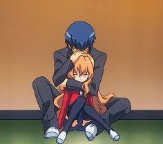 Anime Hug: Toradora - Taiga and Ryuuji Hug