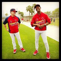 Cardinal greats Jim Edmonds and Willie McGee