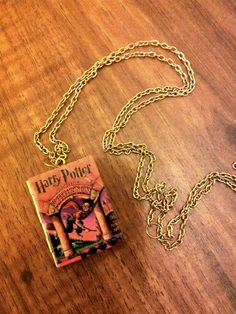 Harry Potter Sorcerer's stone Pendant  Book Locket by junkstudio, $20.00