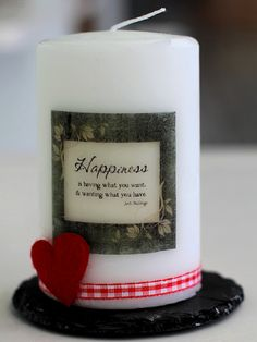 Can make personalised candles using this technique.  Ought to try.
