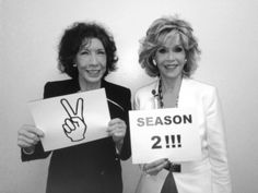 Netflix orders a second season of Grace & Frankie...