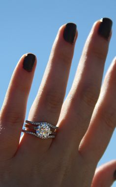 Beautiful Sterling Silver Round Cubic Zirconia CZ Solitaire Ring Set 1.12 CT.TW