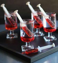 Drink aus Spritzen