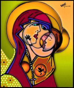 """Computer art """"Madonna & Child"""" by Leoh"""