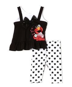 Look what I found on #zulily! Seasame Street 'Elmo Loves You' Tunic & Leggings - Infant by Sesame Street #zulilyfinds