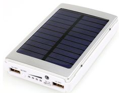 Solar Portable Power Bank 12000 mAh Dual USB LED Charger for All Phones