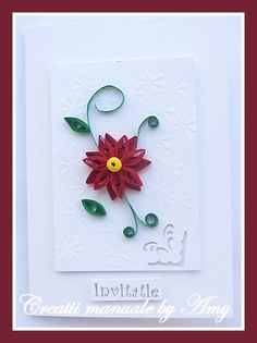 quilling wedding invitation Quilling, Belly Button Rings, Wedding Invitations, Crafts, Ideas, Cards, Bedspreads, Manualidades, Wedding Invitation Cards