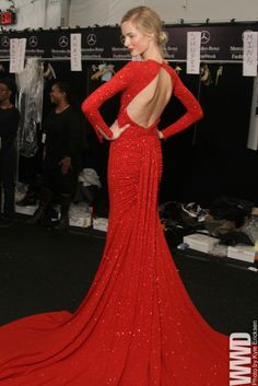 "womensweardaily: "" Backstage at Michael Kors Fall 2012 """