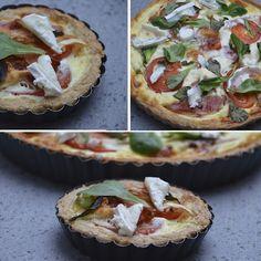 sort pizza med gedeost serranoskinke og