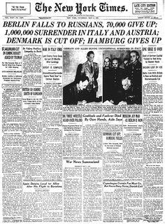 Berlin falls to Russians