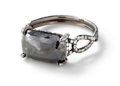 Opaque Grey Diamond Engagement Ring by MPL - Monique Péan/Pamela Love