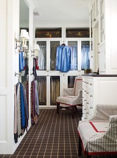 J. Randall Powers's beautifully organized dressing area and closet.
