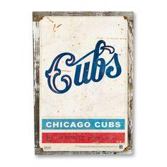 1931 Chicago Cubs Vintage Sign