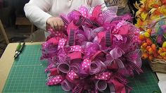 Add Ribbon Streamers to Deco Mesh Wreaths