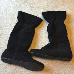 Black suede boots Nine West black suede boots. Worn a few times. Still look new Nine West Shoes