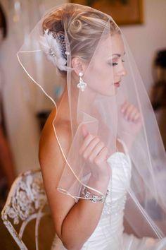Bride's looped updo bridal hair Toni Kami Wedding Hairstyles ♥ ❷ Wedding hairstyle ideas loose veil Danielle Capito Photography Wedding Veils, Wedding Ceremony, Wedding Dresses, Hair Wedding, Bridal Veils, Bride Dresses, Lace Veils, Wedding Makeup, Wedding Jewelry