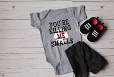 Killing Me Smalls Bodysuit|Tee youth baseball | kids baseball shirt | play ball | cute baseball shirt | baseball vibes | infant by OliveAndEmmyCo on Etsy https://www.etsy.com/listing/587961456/killing-me-smalls-bodysuittee-youth