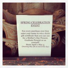 Spring event!