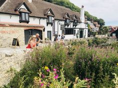 Lulworth Cove, Cabin, Mansions, House Styles, Home Decor, Decoration Home, Room Decor, Cabins, Villas