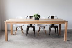 Hedge House Furniture — Red Oak Parsons Dining Table x Oak Dining Chairs, Oak Table, Dining Tables, Dining Rooms, Cool Tables, Red Oak, Cozy House, The Fresh, Home Decor Inspiration