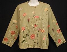Gotcha Covered Vintage Jacket Women's Size M Green Button Front 3/4 Sleeves | eBay